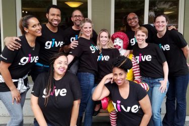 Members of Microsoft's employee giving team
