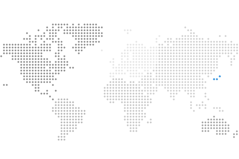 Illustrative map of the world highlighting Japan