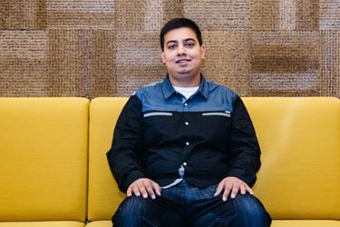 Photo of Microsoft intern Zimraan