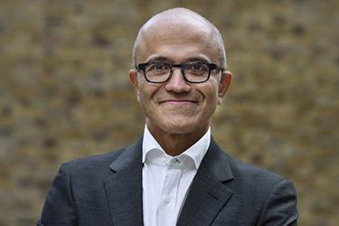 Satya Nadella of Microsoft