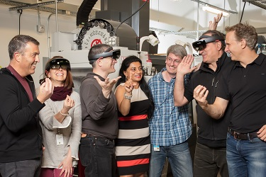 Members of the Silicon Valley HoloLens team.