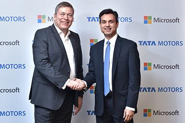 Anant Maheshawari of Microsoft India and Guenter Butscheck of Tata Motors
