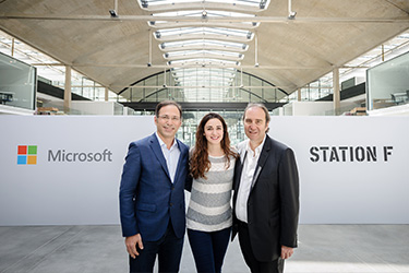 President of Microsoft France Vahé Torossian and partners
