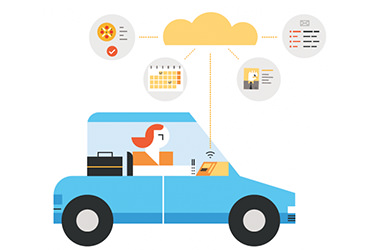 Illustration of digital automotive